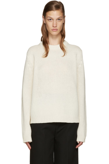 Acne Studios - White Wool Saidy Sweater