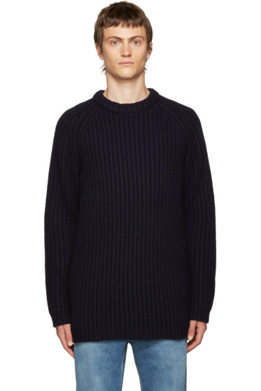 Acne Studios - Navy Cable Knit Sweater