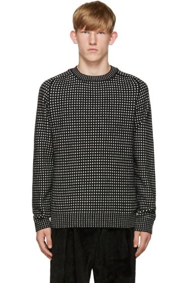 Acne Studios - Black & White Kite Check Sweater
