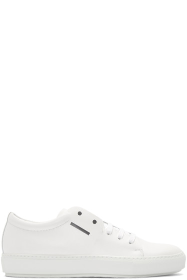 Acne Studios - White Adrian Smiley Sneakers