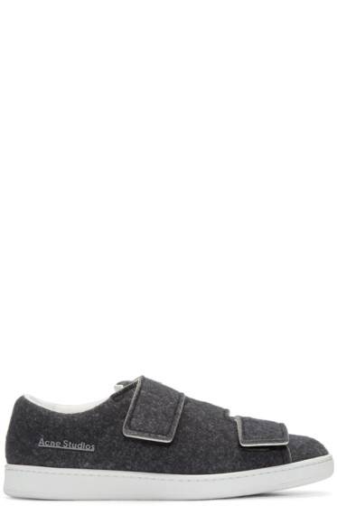Acne Studios - Grey Felt Triple Lo Sneakers
