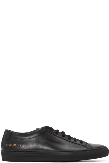 Common Projects - Black Original Achilles Sneakers