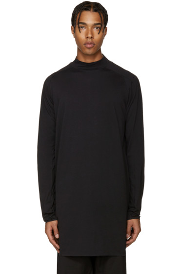 Y-3 - Black Mock Neck T-Shirt