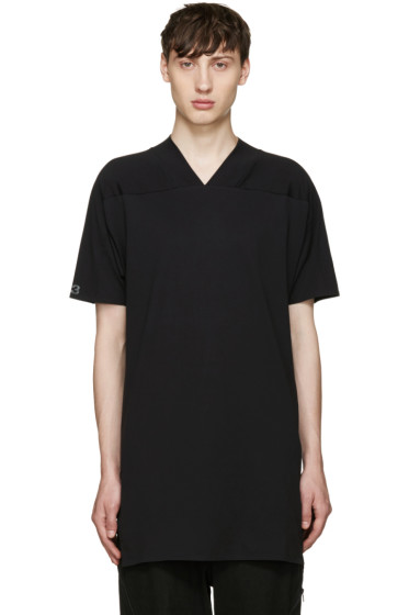 Y-3 - Black Basic V-Neck T-Shirt