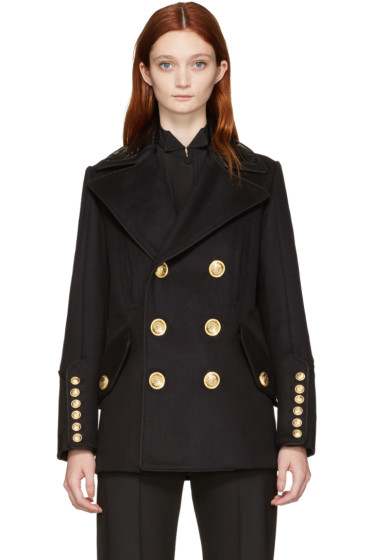 Dsquared2 - Black Double-Breasted Military Jacket