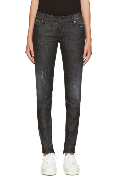 Dsquared2 - Black Distressed Skinny Jeans