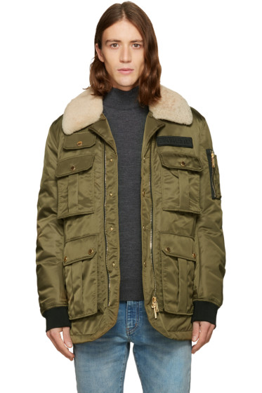 Dsquared2 - Green Multi-Pocket Puff Jacket