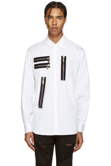 Dsquared2 - White Zips Relax Dan Shirt