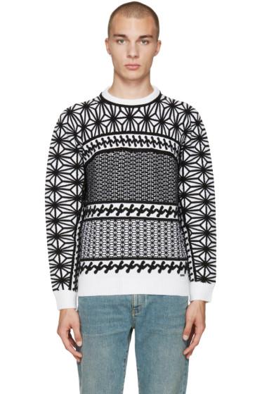 Dsquared2 - Black & White Jacquard Sweater