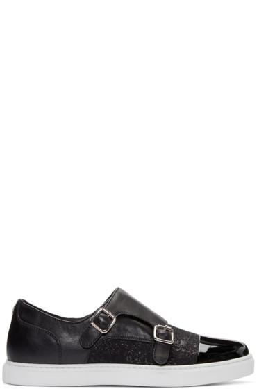 Dsquared2 - Black Monk Strap Sneakers