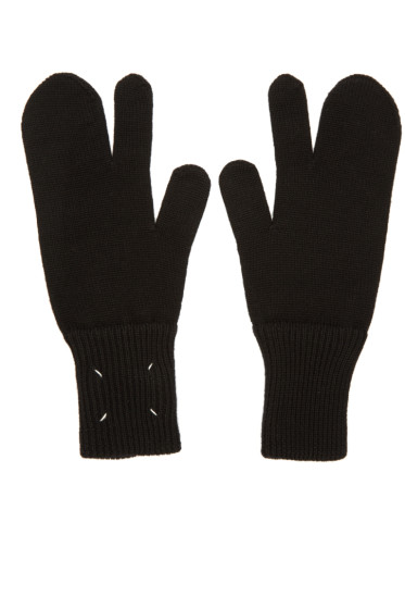 Maison Margiela - Black Tabi Gloves