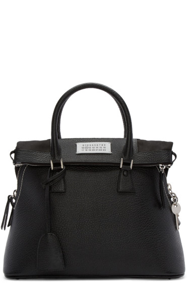 Maison Margiela - Black Leather Duffle Bag