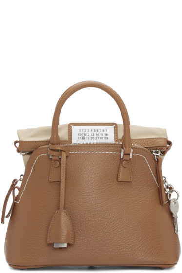 Maison Margiela - Brown Grained Leather Bag