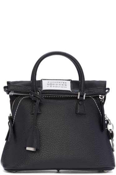 Maison Margiela - Black Grained Leather Bag