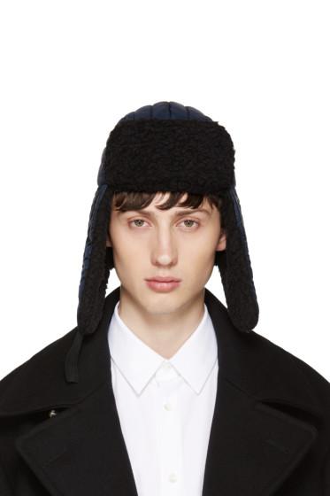 Maison Margiela - Navy Nylon & Wool Aviator Hat