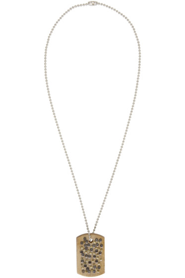 Maison Margiela - Silver & Wood Nail Necklace