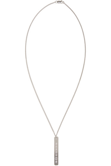 Maison Margiela - Silver Logo Tab Necklace