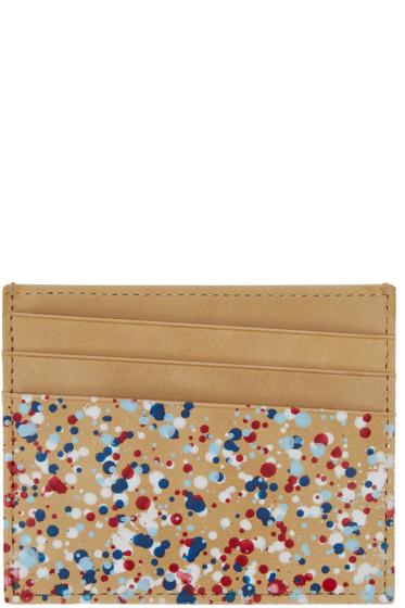 Maison Margiela - Beige Paint Splatter Card Holder