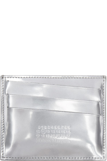 Maison Margiela - Silver Metallic Logo Card Holder