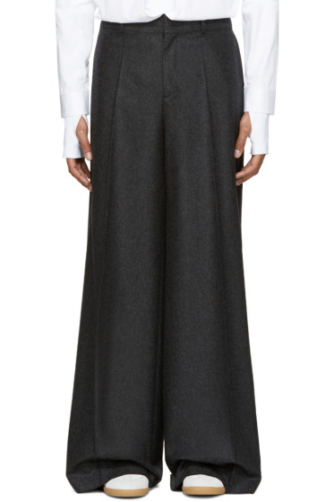Maison Margiela - Grey Wide-Leg Trousers