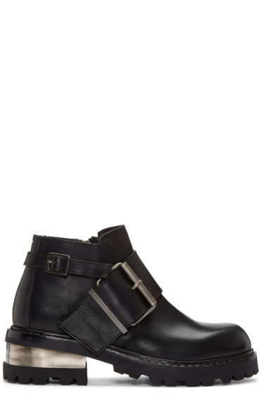 Maison Margiela - Black Big Buckle Boots