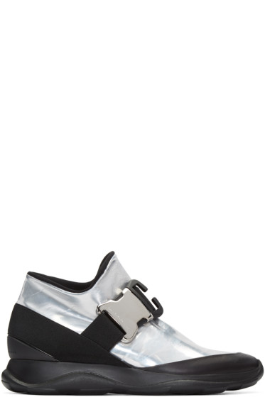 Christopher Kane - Silver & Black Spoiler High-Top Sneakers