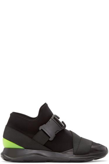 Christopher Kane - Black Neon Spoiler High-Top Sneakers