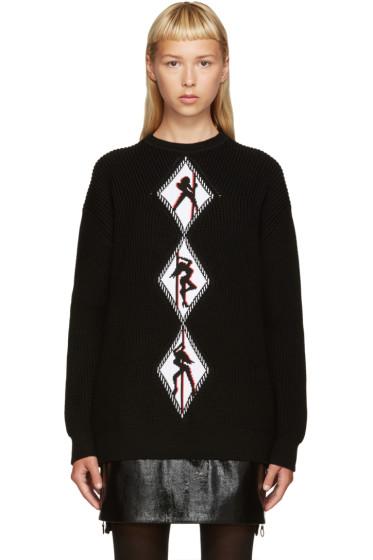 Alexander Wang - Black Graphic Sweater