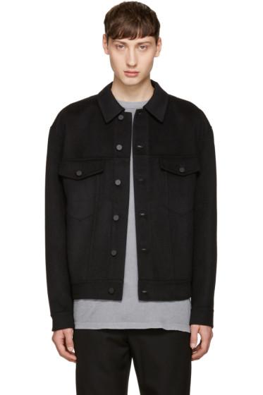 Alexander Wang - Black Wool Oversized Jacket