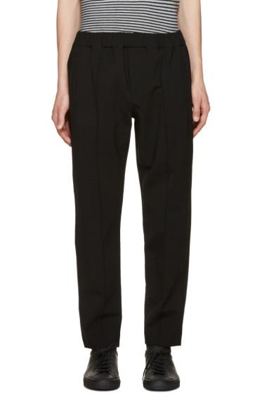 Alexander Wang - Black Pin-Tuck Trousers
