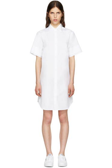 MM6 Maison Margiela - White Poplin Shirt Dress