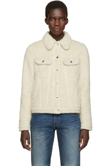 MM6 Maison Margiela - Ecru Teddy Jacket