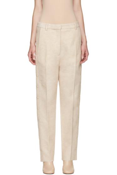 MM6 Maison Margiela - Beige Wool Snap Trousers