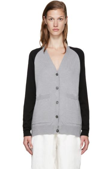 MM6 Maison Margiela - Grey & Black Wool Cardigan