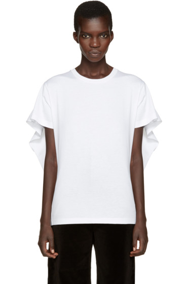 MM6 Maison Margiela - White Overlay T-Shirt