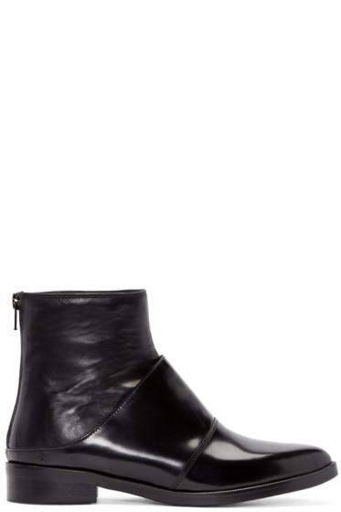 MM6 Maison Margiela - Black Fake Mule Boots