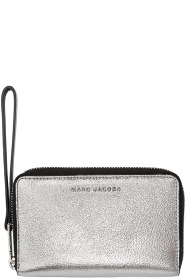 Marc Jacobs - Silver & Black Wingman Wallet