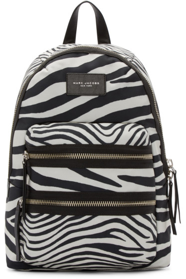 Marc Jacobs - Black & Off-White Zebra Biker Backpack
