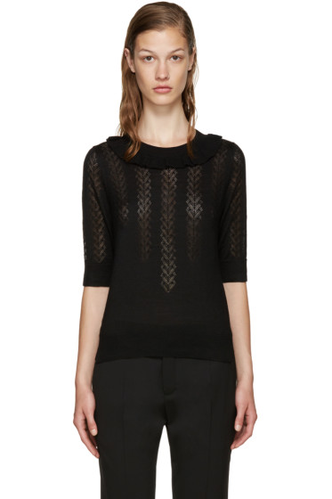 Marc Jacobs - Black Knit Ruffle Sweater