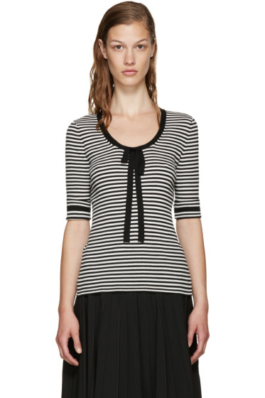 Marc Jacobs - Black & White Striped Sweater