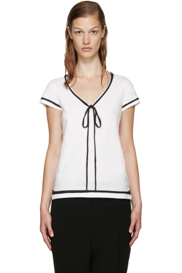 Marc Jacobs - White Jersey Ties T-Shirt