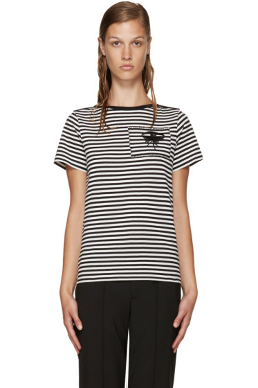 Marc Jacobs - Black & White Striped Eye T-Shirt
