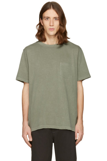 T by Alexander Wang - Green Sun Faded T-Shirt