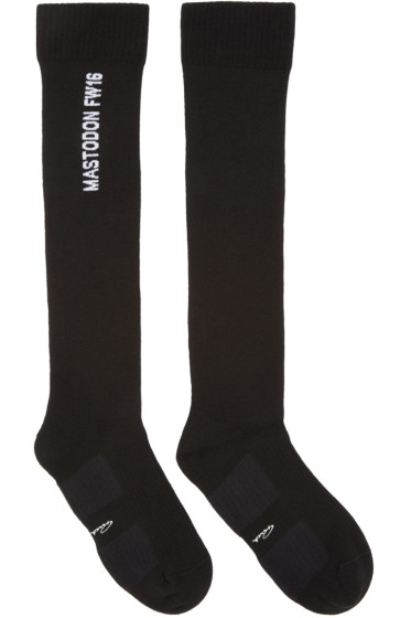 Rick Owens - Black Mastodon Knee-High Socks