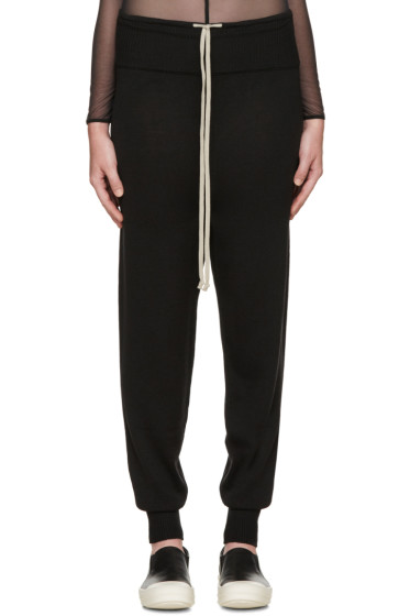 Rick Owens - Black Merino Wool Lounge Pants