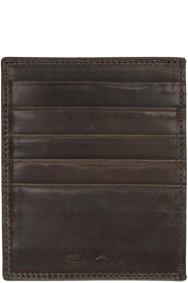Rick Owens - Black Leather Card Holder