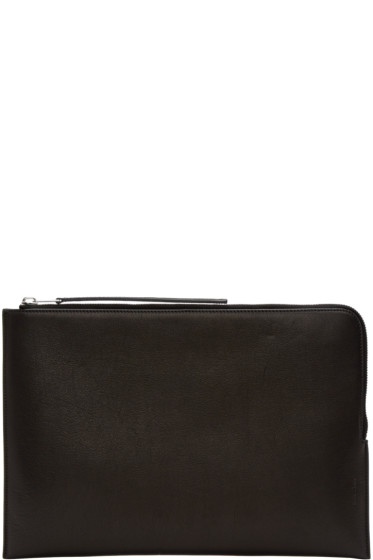 Rick Owens - Black Large Zippered Pouch