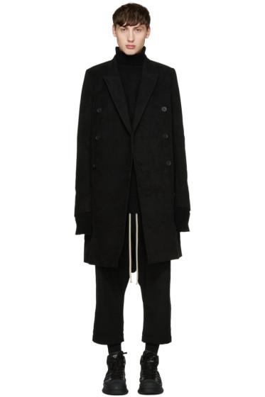 Rick Owens - Black Moleskin JMF Coat
