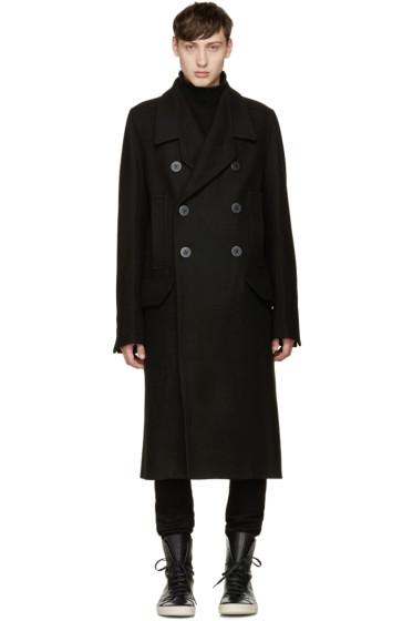 Rick Owens - Black Officers Coat