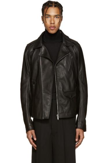 Rick Owens - Black Leather Stooges Jacket